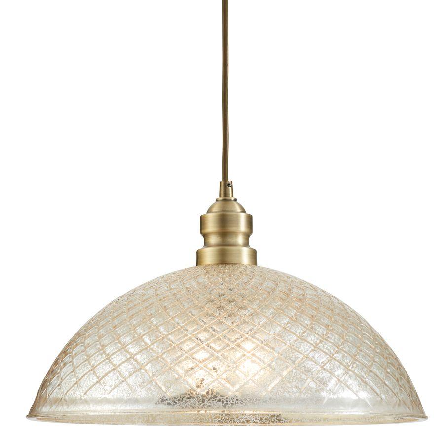 Allen Roth Lynlore 15 98 In Old Br Vintage Hardwired Single Mercury Gl Dome Standard Pendant