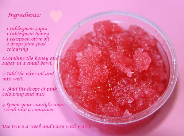Diy Lip Scrub Pink Lip Scrub Lip Scrub Diy Sugar Scrub Diy