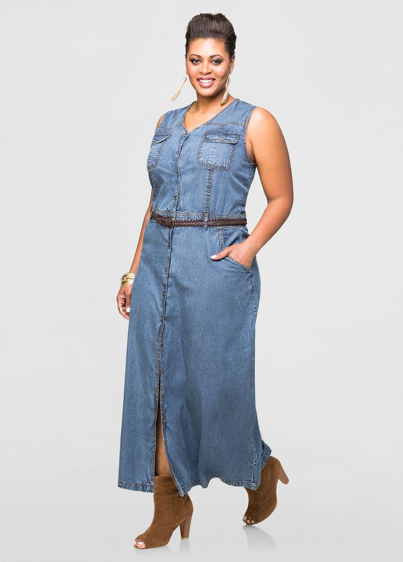 Plus Size Denim Maxi Dresses | Huston Fislar Photography