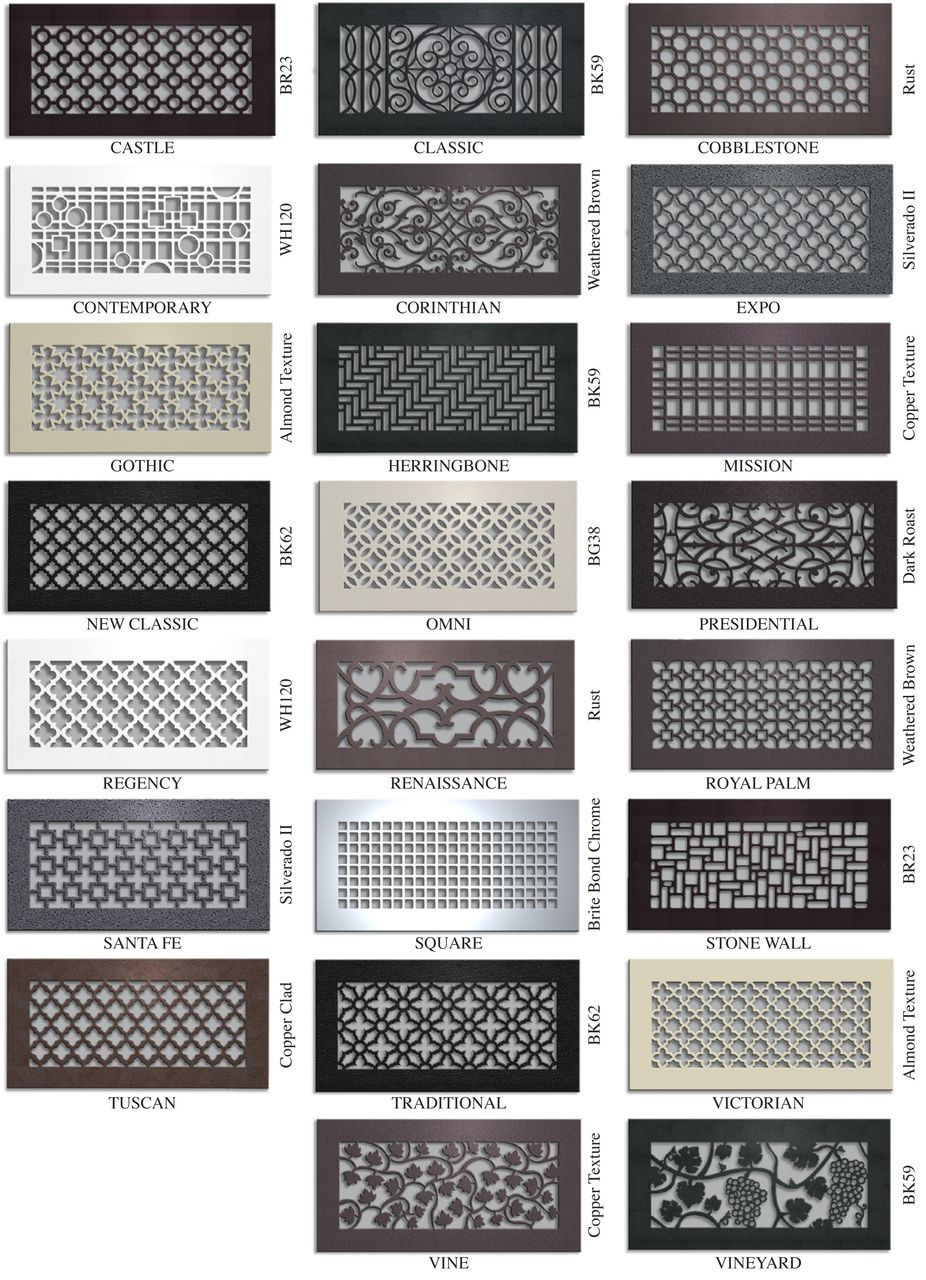 Custom Metal Registers And Air Return Grilles Vent Covers Unlimited Home Diy Wall Vents Air Vent Covers