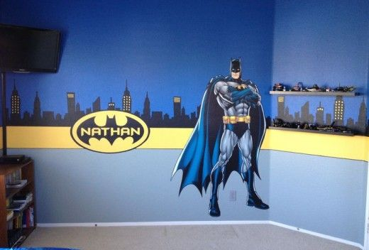 how to make a batman themed bedroom super hero pinterest rh pinterest com batman childrens room Batman Bedrooms for Boys