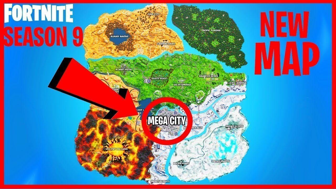 THE NEW MAP in Fortnite Season 9..!? Fortnite, Seasons, Map