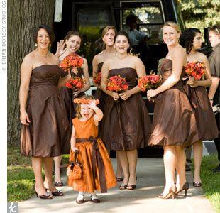 August 2009 Brown Bridesmaid Dresses Brown Wedding Dress Fall Bridesmaid Dresses