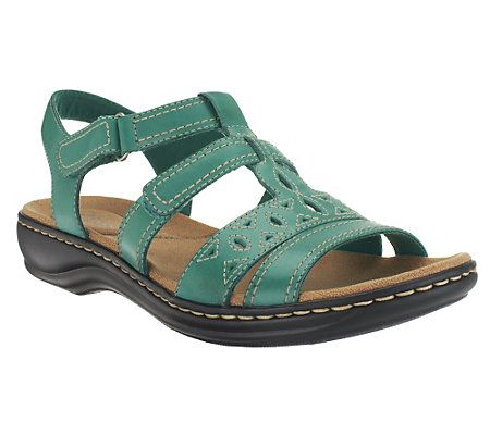 Clarks Leather Multi-Strap Sandals - Leisa Apple