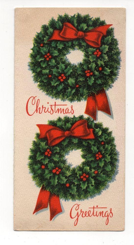 Vintage Hawthorne Sommerfield Christmas Greeting Card 2 Christmas