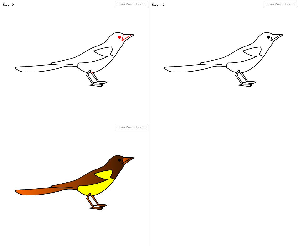 how to draw magpie for kids step by step drawing tutorial draw