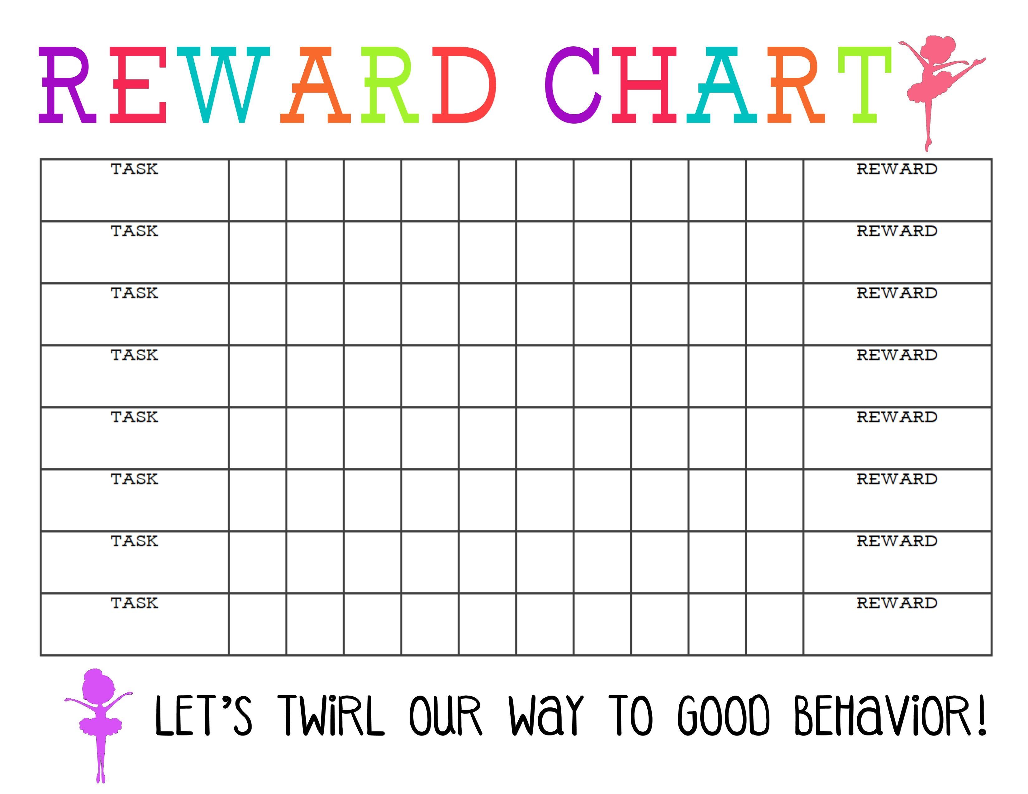 Printable Reward Charts For Kids Reward Chart Template Printable Reward Charts Reward Chart Kids