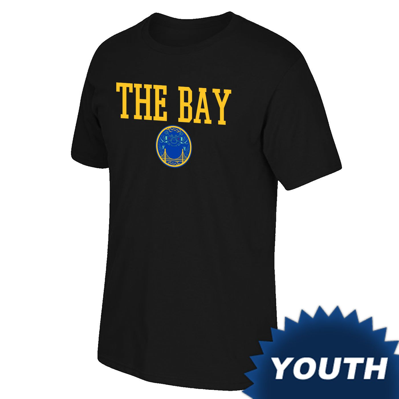 8be112864022 Golden State Warriors Youth Chinese Heritage  The Bay  Wordmark Tee - Black