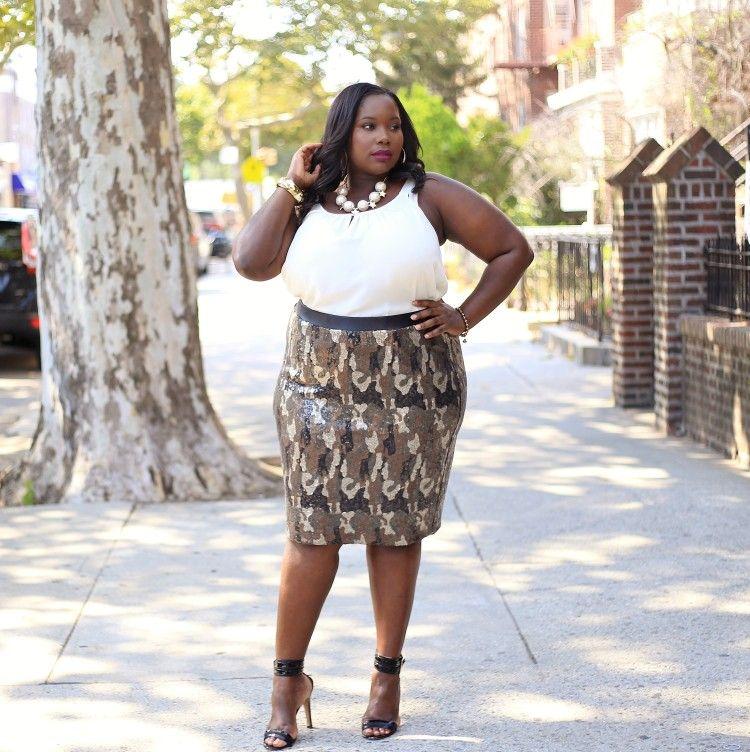 Lane Bryant Sequin Camouflage Skirt