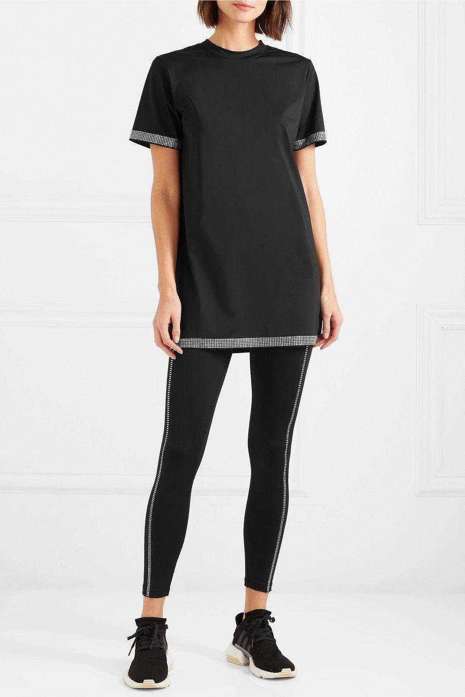 Adam Selman Sport Crystalembellished stretch mini dress