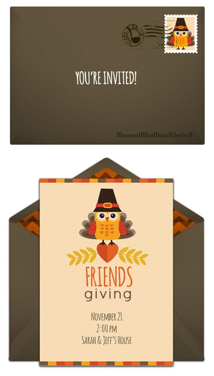 Free Friendsgiving Invitation