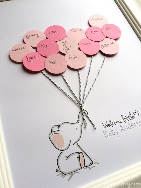 Elephant Baby Shower Guest Book Printable Baby Shower Guest Book