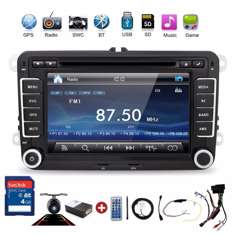 2 din car dvd player pc gps navigation stereo video multimedia screen for vw volkswagen