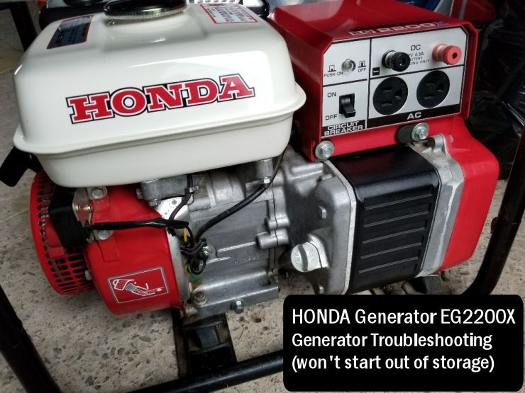 Starting An Old Honda Generator Eg2200x Honda Generator Honda Generator