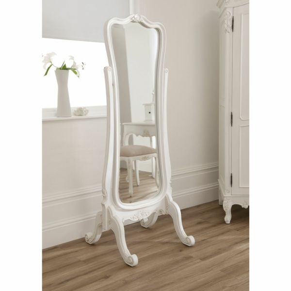 impressionnant miroir baroque blanc   Décoration française ...
