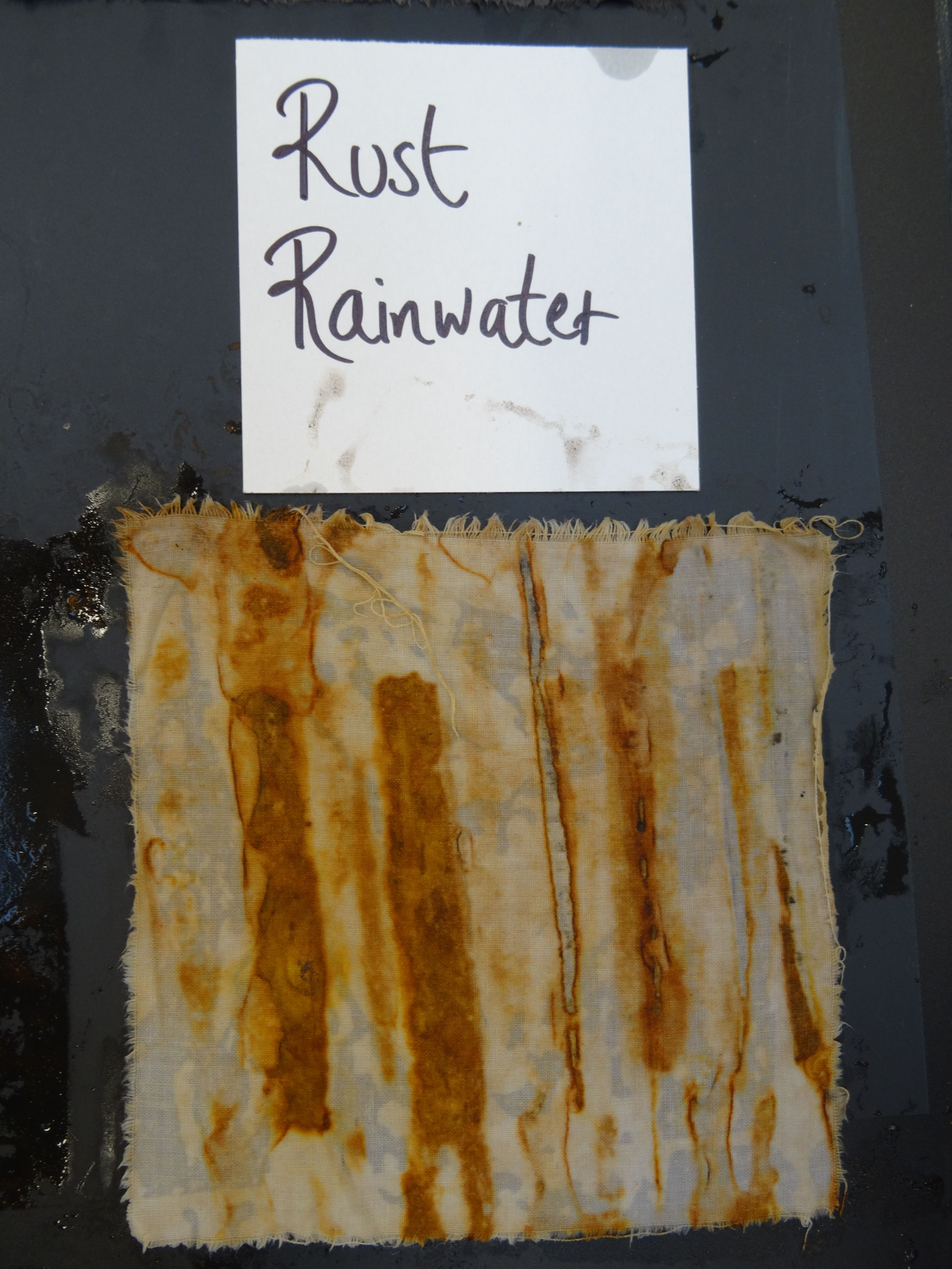 Dyeing and mark making with rust workshop run by Jule
