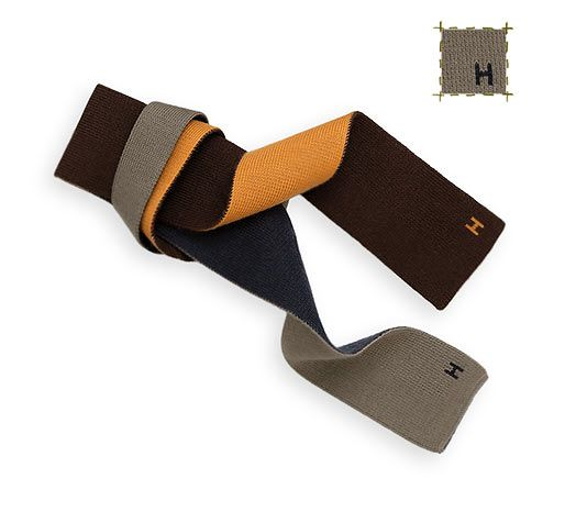 52a0ecb89840 4 Temps Square knit tie, reversible to 4 colors,  taupe/navy/chocolate/orange 56