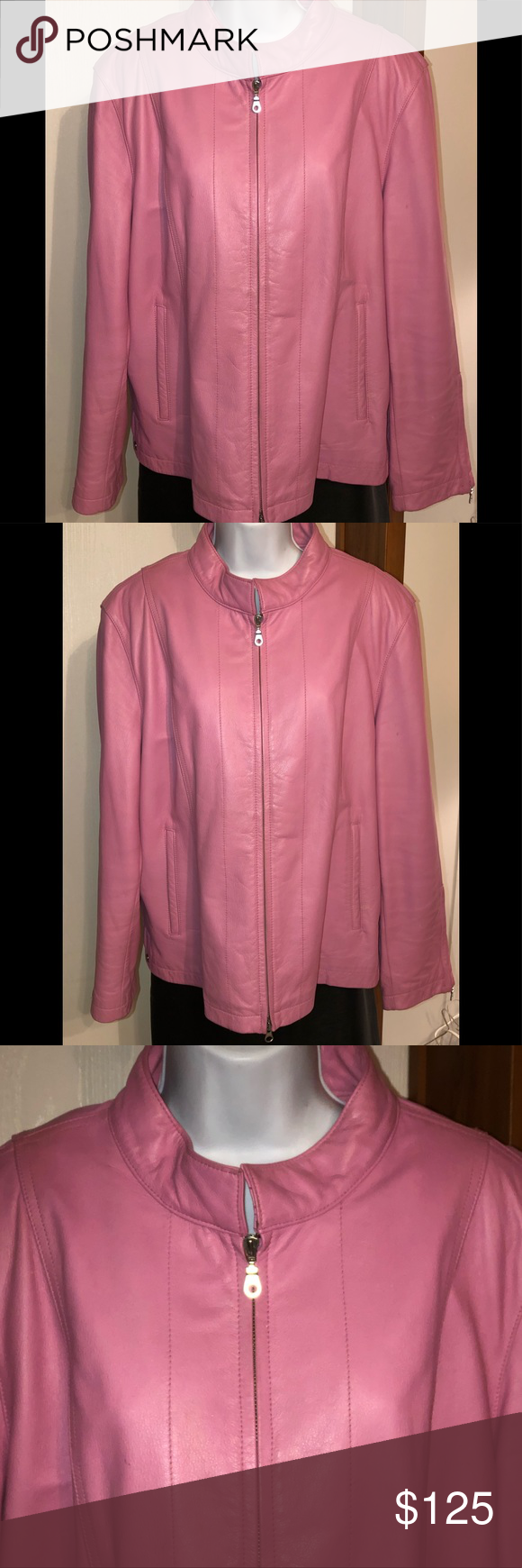 Pink Women's Wilson Maxima Leather Jacket 2XX Pink