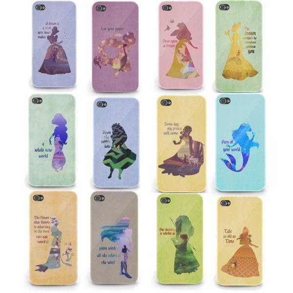 """Disney phone cases"" by cnardone on Polyvore I WANT THEM SOOOOO BAD!!!!!!"