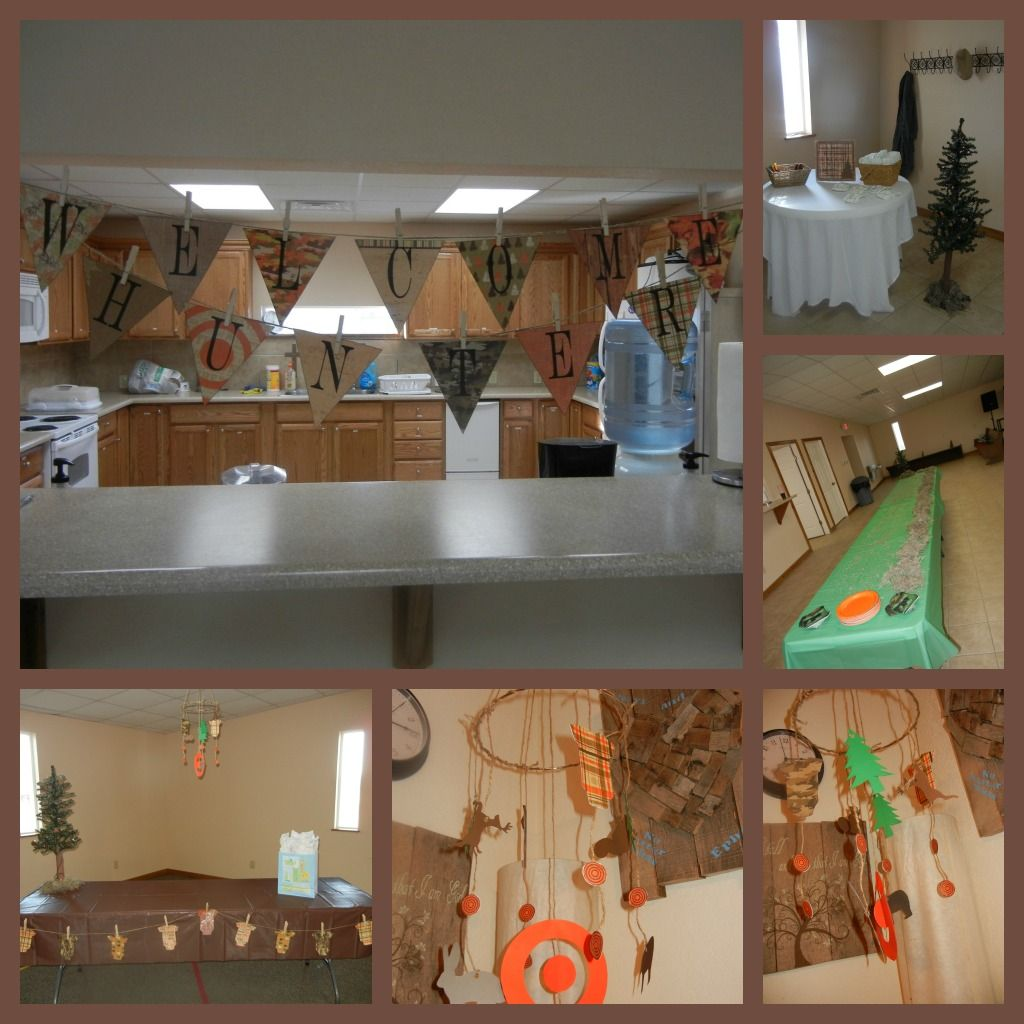 Hunting Baby Shower - ideas and templates from  http://krystinaevans.blogspot.