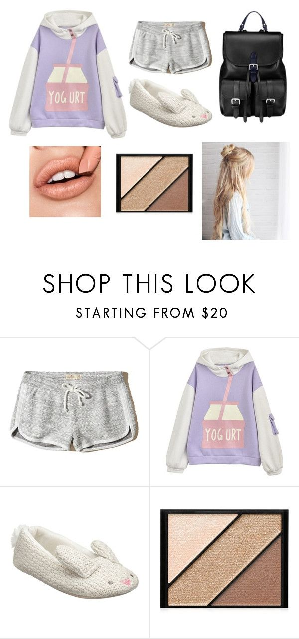 """""""comfy days"""" by rayofsunshine0504 ❤ liked on Polyvore featuring Hollister Co., John Lewis, Elizabeth Arden, Aspinal of London, Sweatshirt, slippers and messyhairdon"""