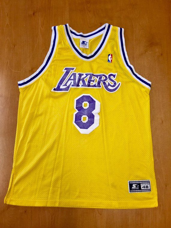 5992990ed0b Vintage 1997 Kobe Bryant Los Angeles LA Lakers Authentic Starter Jersey  Size 48 shaquille o neal mag