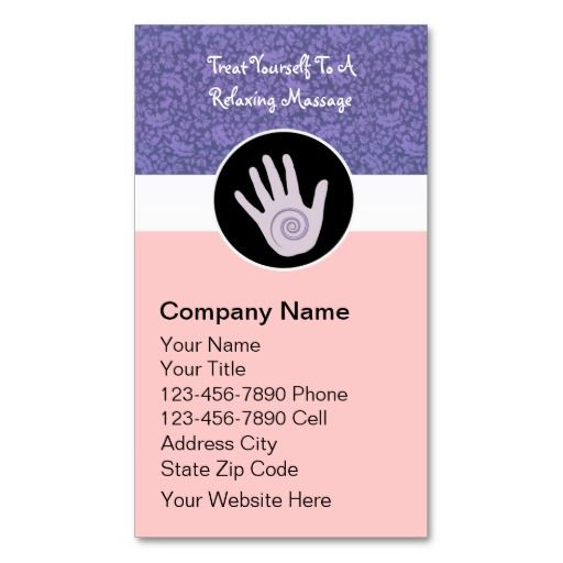 Massage Therapy Business Cards Zazzle Com Massage Therapy Business Cards Massage Therapy Business Massage Therapy