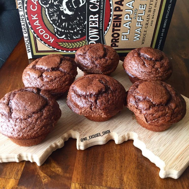 Chocolate peanut butter power muffins no excuses