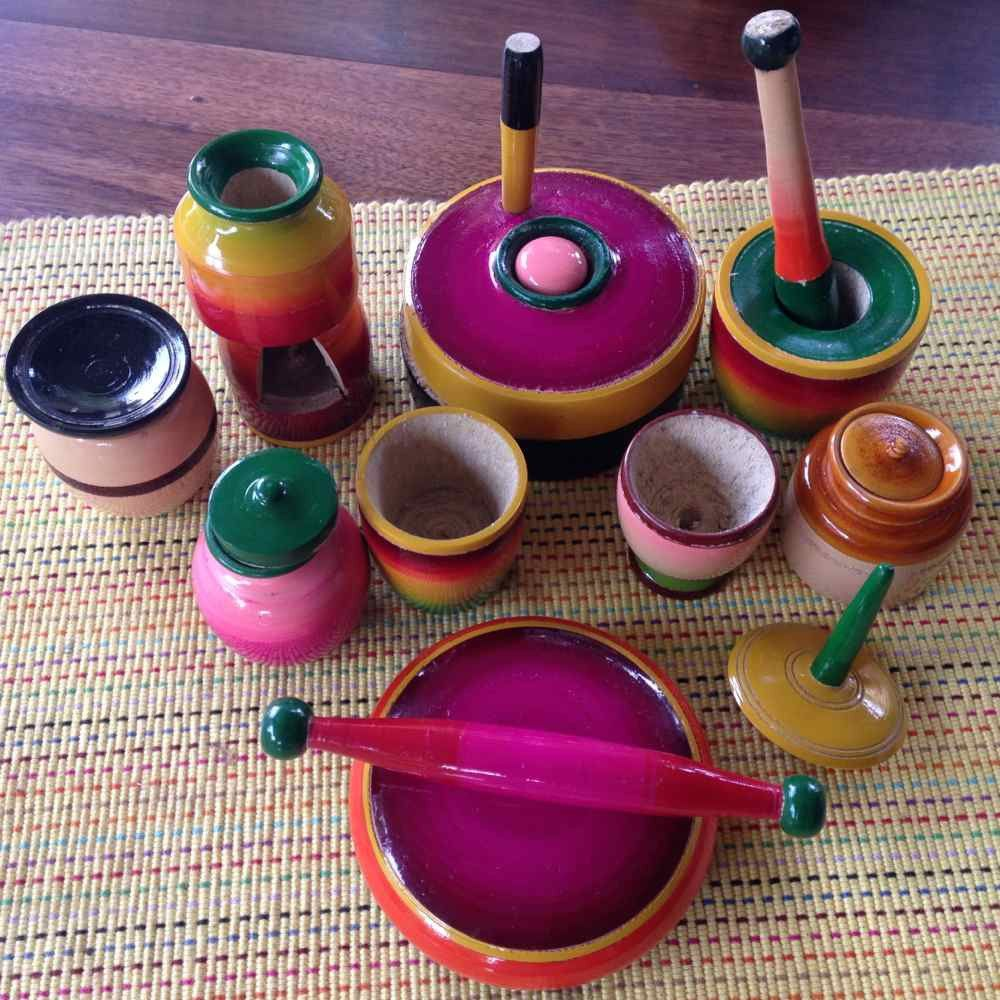 Sawantwadi Cooking Set Cooking Set Traditional Toys Toy Kitchen