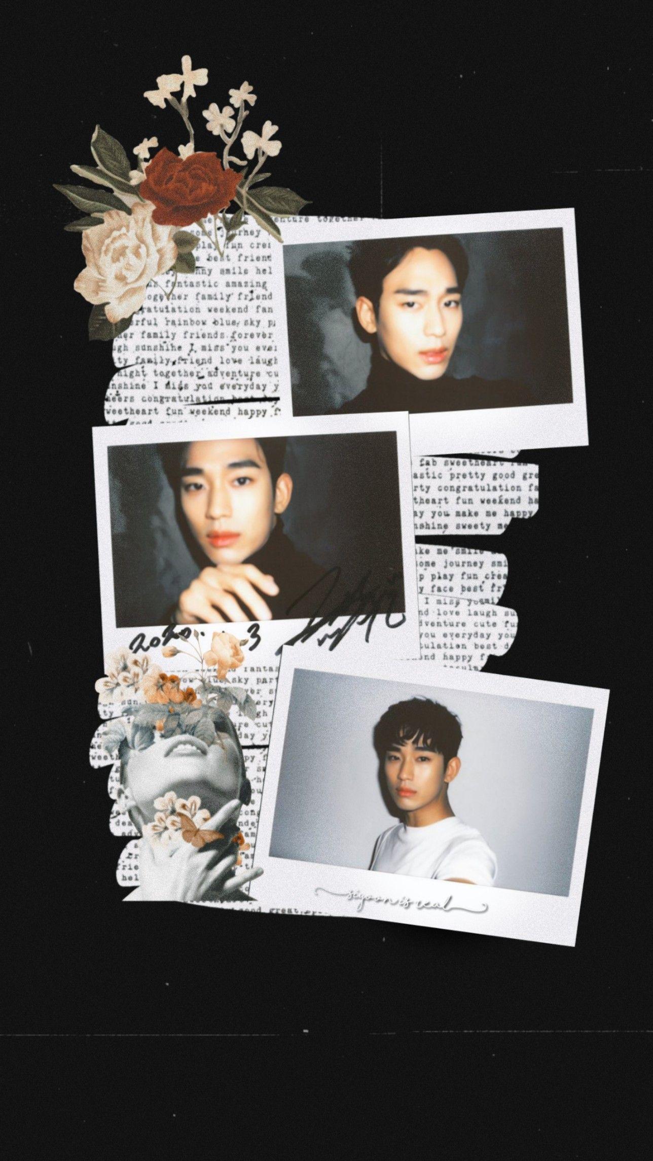 Wallpaper Aesthetic Kim Soo Hyun Kartu Artis Gambar