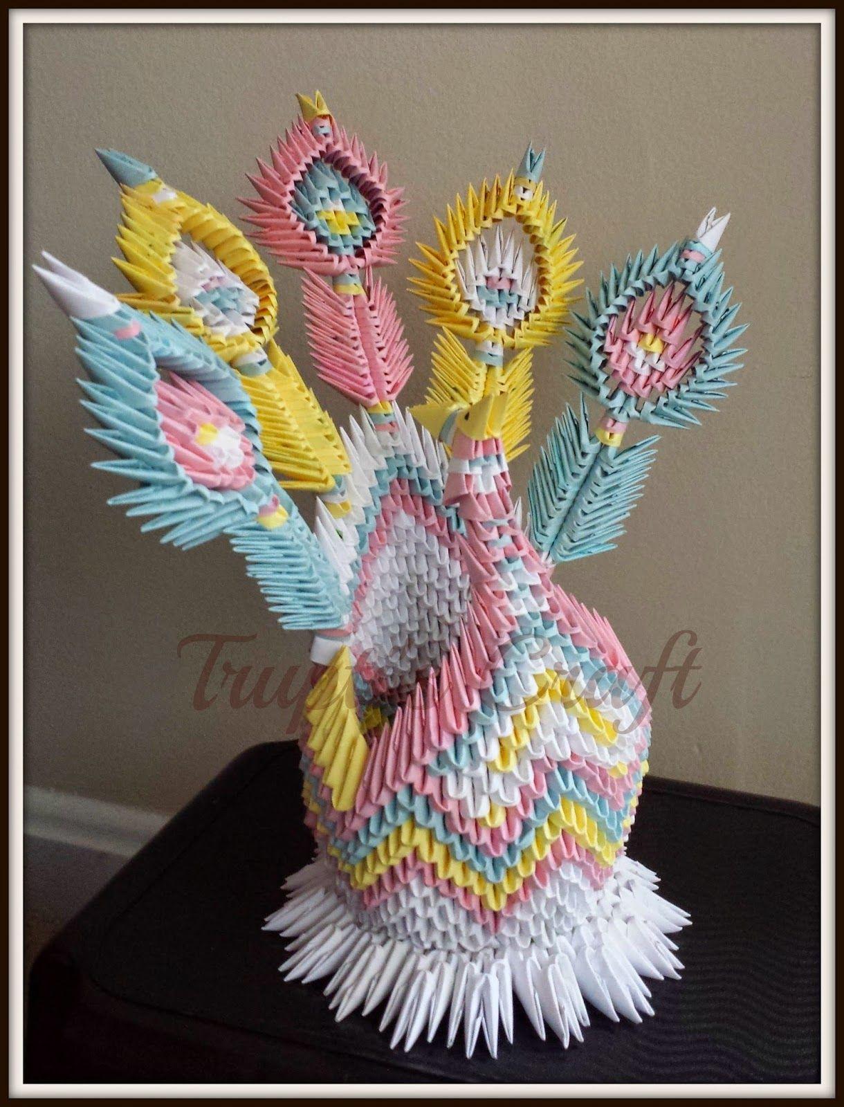 peacock bird diagram fsk modulation and demodulation block trupti 39s craft 3d origami tavuskuşu
