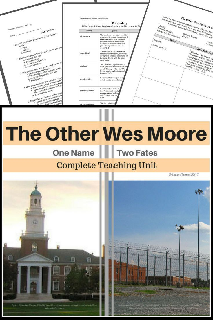the other wes moore teaching unit quizzes high school english the other wes moore teaching unit