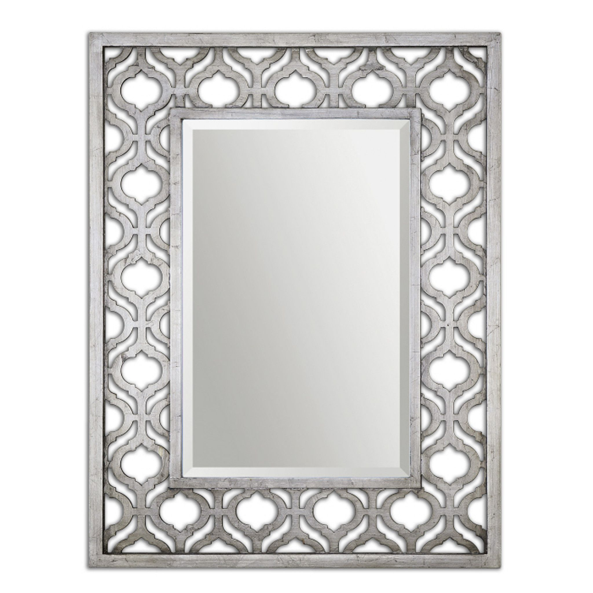 Frame Features A Decorative Design Finished In Antiqued Silver Leaf