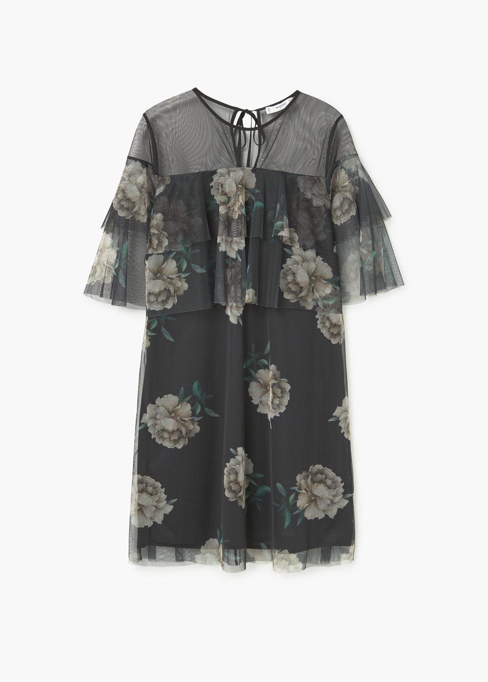 Floral tulle dress   MANGO