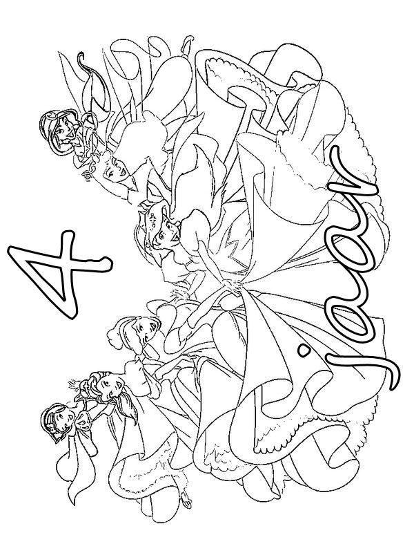 kleurplaat prinsessen verjaardag prinsessen verjaardag 4