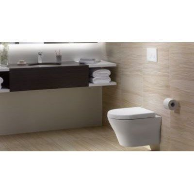 toto ct437fg-01 mh wall-hung d-shape toilet bowl only in cotton, Hause ideen