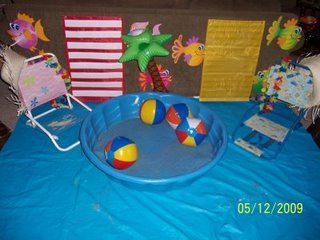 Plastic Pool Filled With Sand Arrival Activity Birthday