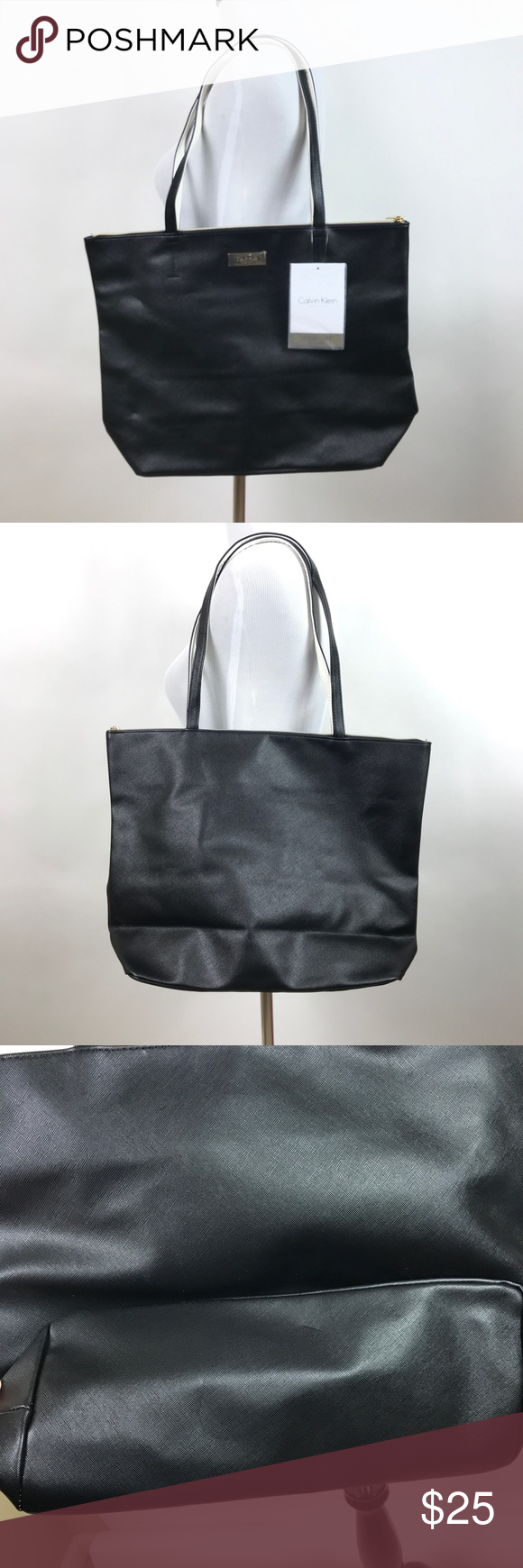 02ba06c377be6 Calvin Klein CK Womens Fragrance Tote Bag Black Large Tote Calvin Klein  Bags Totes