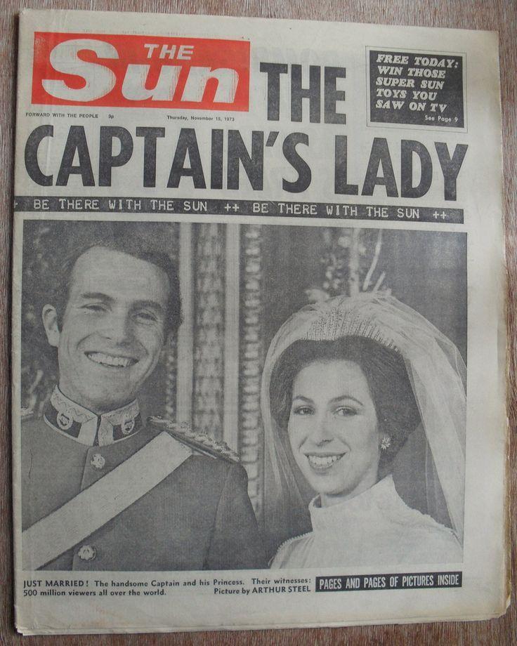Image result for THE SUN vintage newspaper 1973 Princess