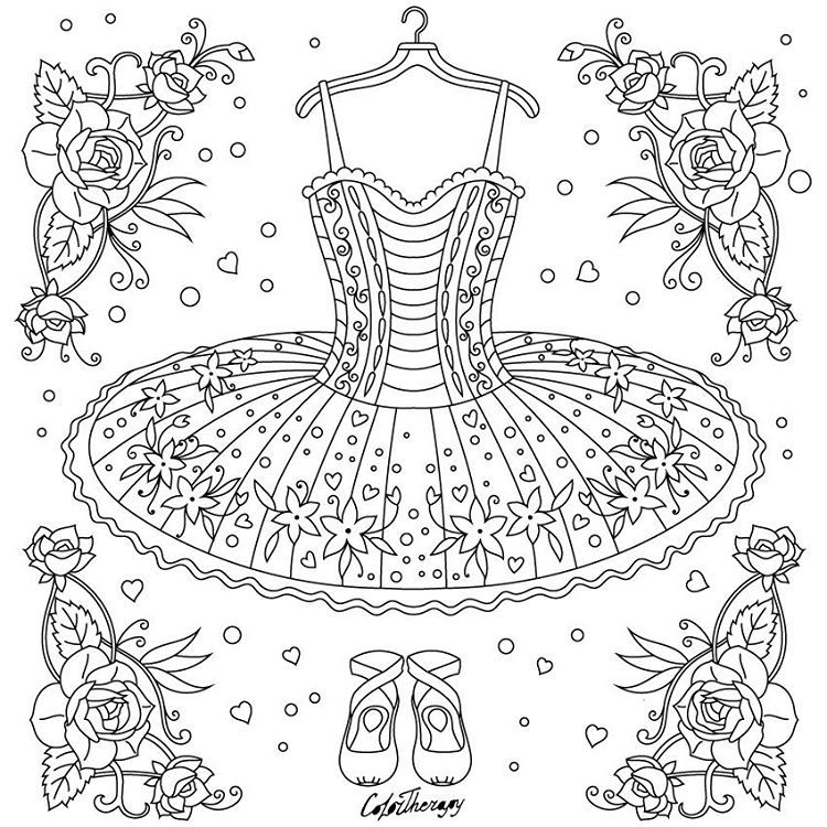 471 Likes 5 Comments Best Coloring App For Adults Colortherapyapp On Instagram The Sneak Peek For T Dance Coloring Pages Coloring Books Color Therapy