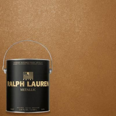 Ralph Lauren 1 Gal Burnished Copper Gold Metallic Specialty Finish Interior Paint Me139 The Home Depot Ralph Lauren Paint Accent Wall Paint Metallic Paint