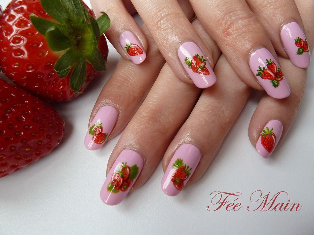 NAIL ART à la fraise de Fée Main