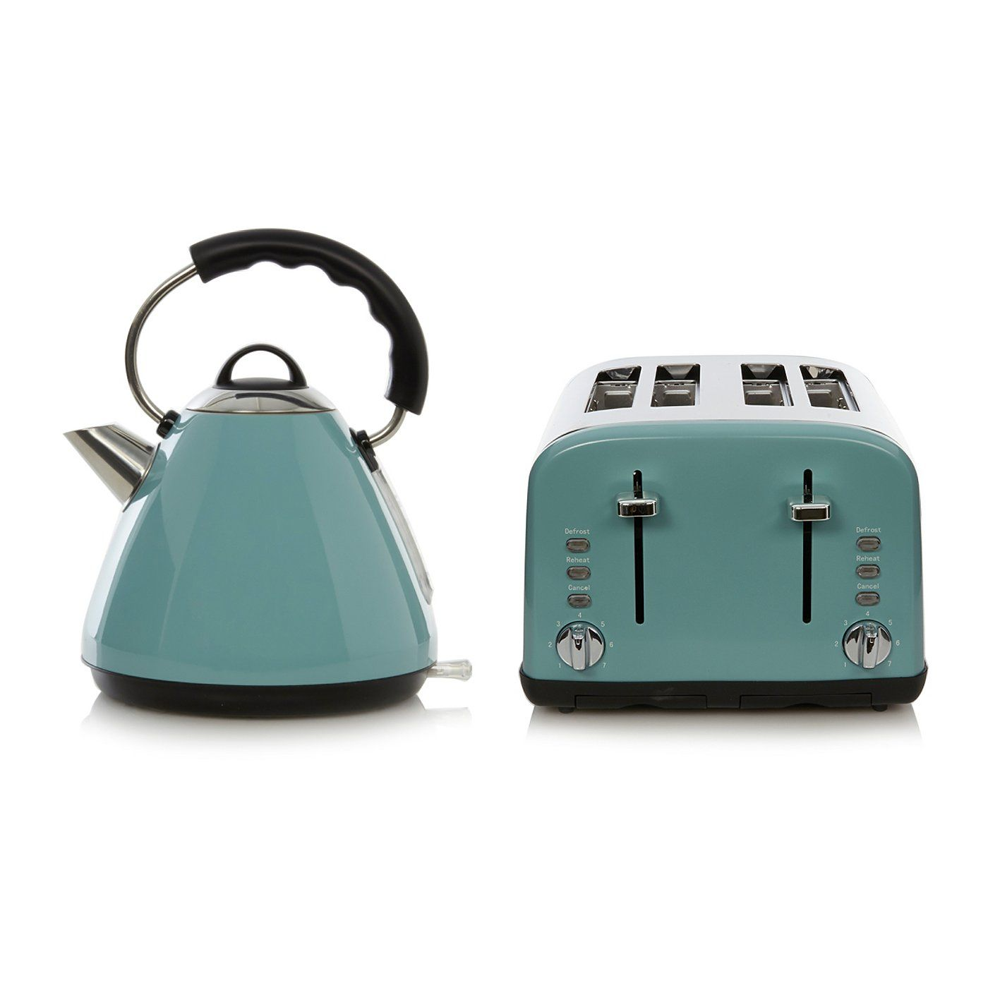 Buy George Home Pyramid Kettle & 4 Slice Toaster Range - Blue from ...