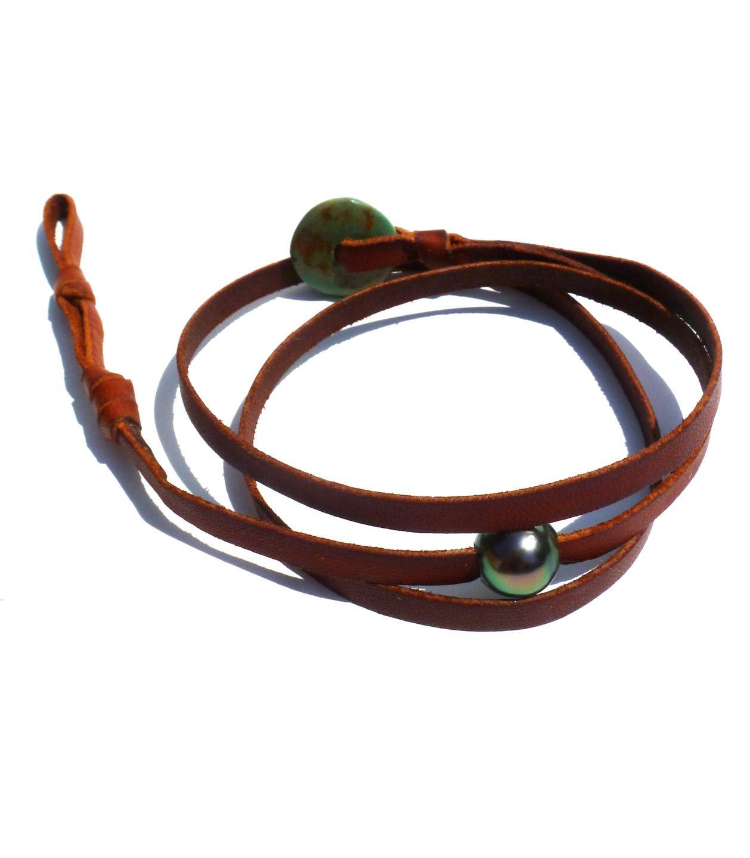 Bracelet pour homme avec perle de tahiti