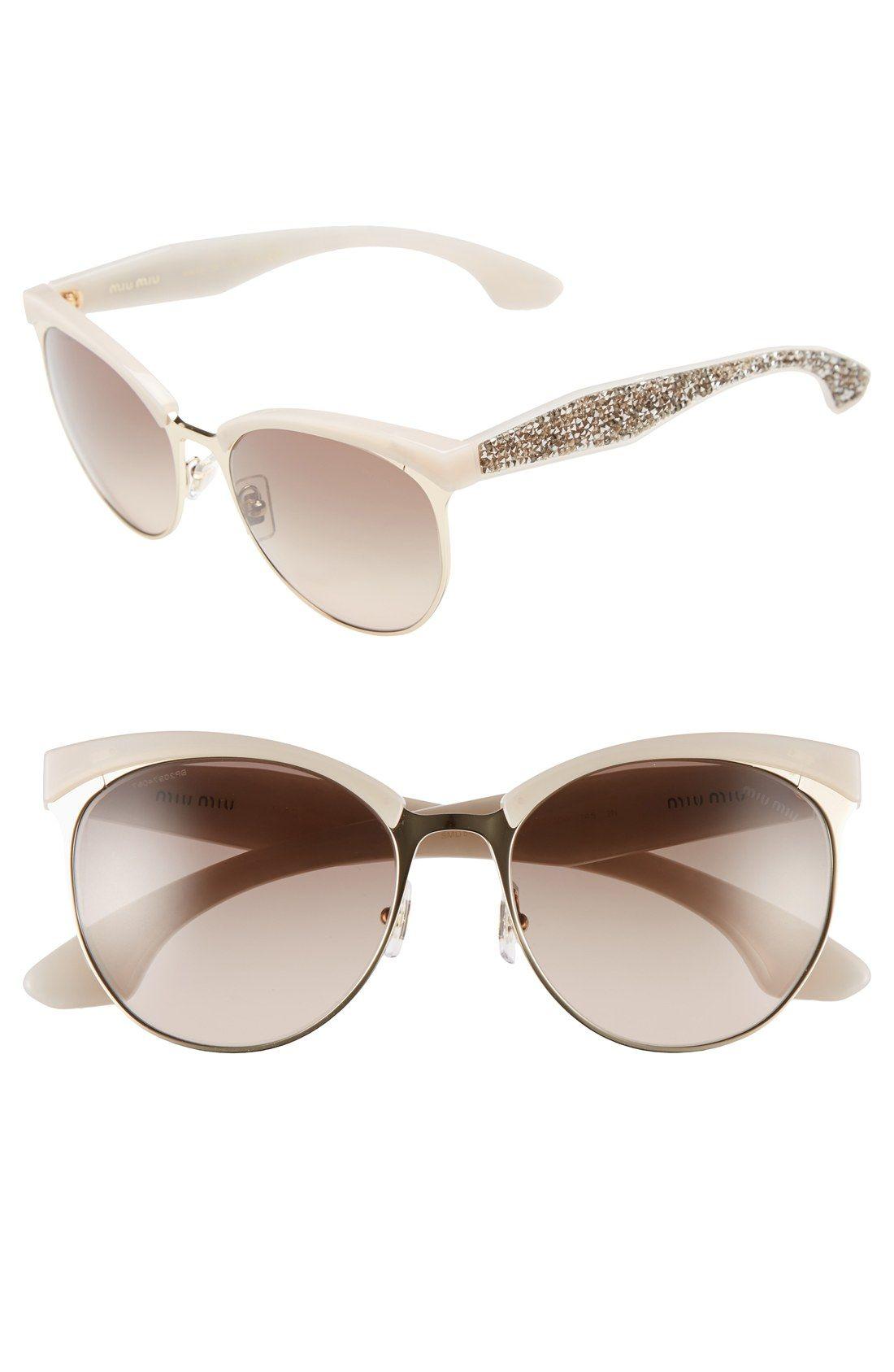 1fcf3ac735c0 Miu Miu 56mm Pavé Cat Eye Sunglasses