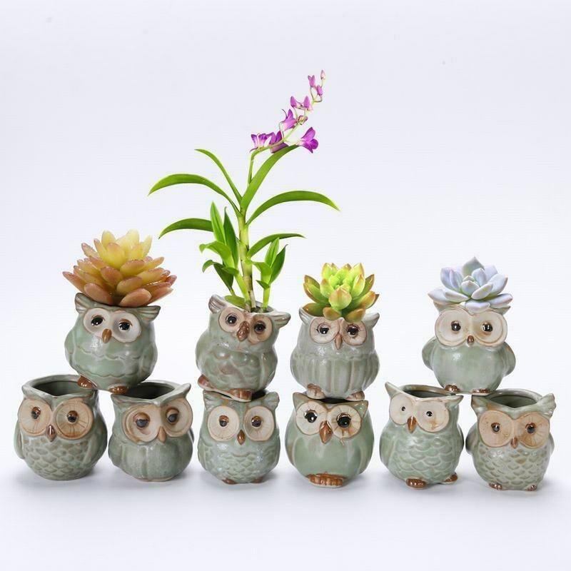 Ceramic Cartoon Animal Shaped Flower Pot For Succulents Plant