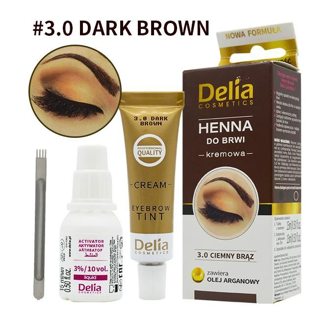 Delia Henna Eyebrows Dye Kit Henna Gel Eyebrows Lashe Cream Makeup