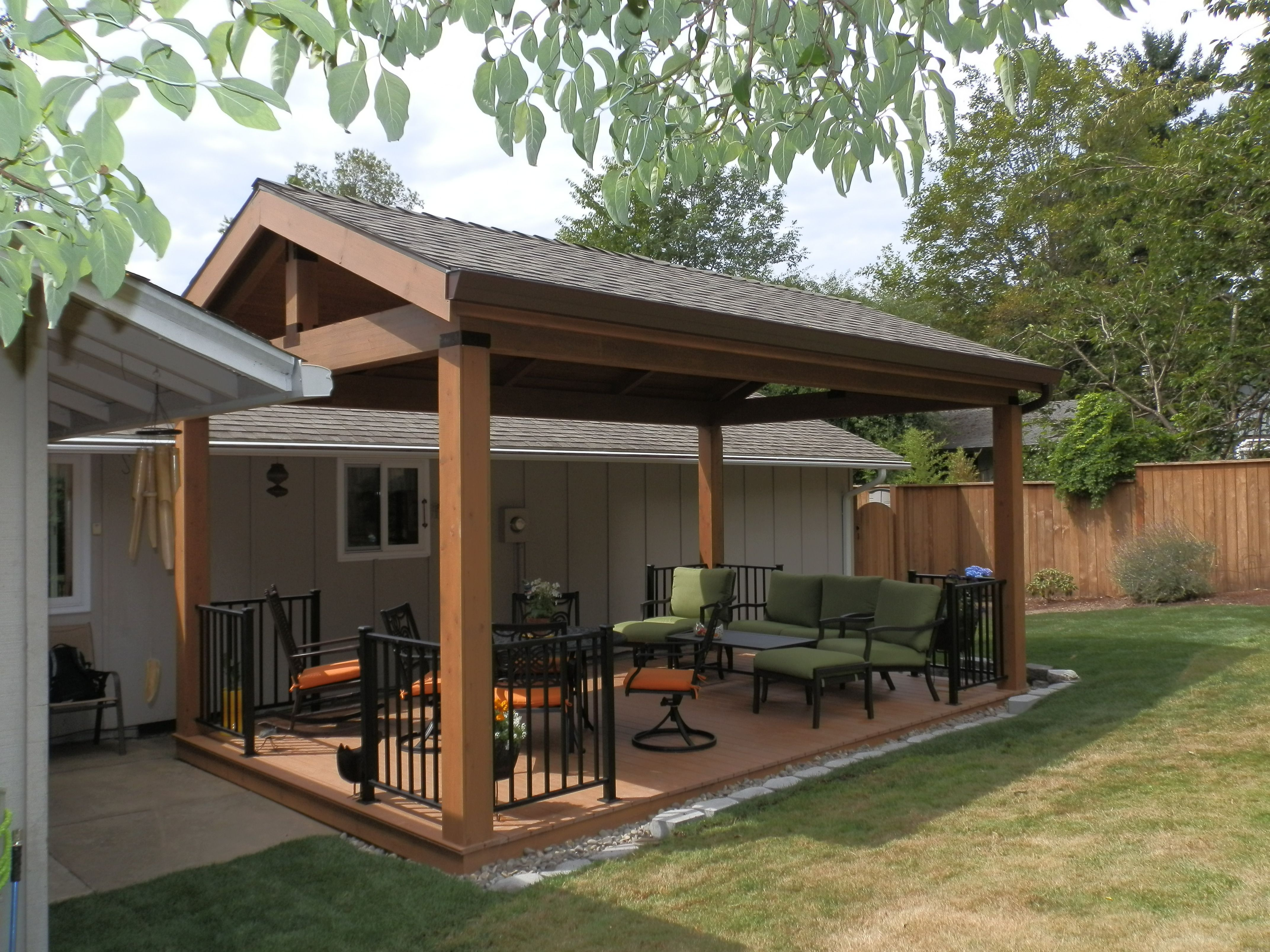 Outdoor Covered Deck | Remodeling contractors, Portland ... on Backyard Renovation Companies id=92967