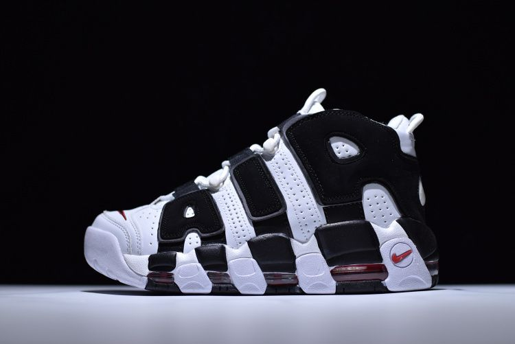 f58218be95e Real Unisex Nike Air More Uptempo White Black Varsity Red