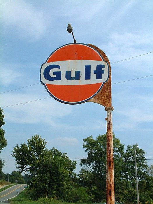 old Gulf sign
